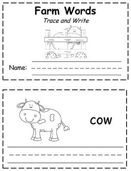 Farm Words Trace & Write Book