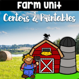 Farm Worksheets and Centers Bundle