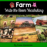 Farm Write The Room Vocabulary