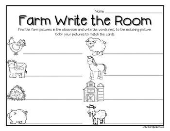 Farm Write the Room {8 words}