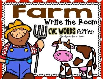 Farm Write the Room - CVC Words Edition