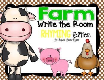 Farm Write the Room - Rhyming Edition