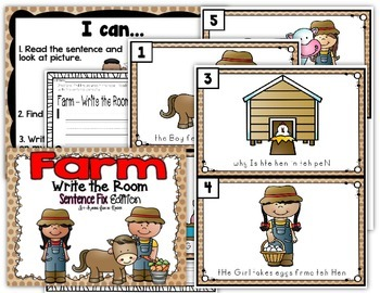 Farm Write the Room - Sentence Fix Edition