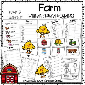 Farm Writing Station Activities
