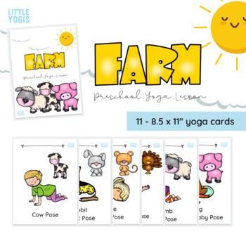 Farm Yoga Cards Preschool By Little Yogis Teachers Pay Teachers