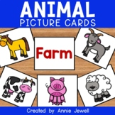 Farm, Zoo, Forest, and Ocean Animals Picture Cards and Worksheets