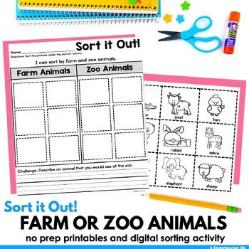 Farm or Zoo Sort