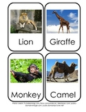 Farm, Zoo & Water Animal flashcards for identification and habitat study