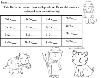 Farm addition and subtraction review