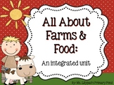Farm and Food Unit for Preschool, Kindergarten, or First Grade