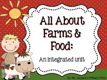 Farm and Food Unit for Preschool, Kindergarten, or First Grade