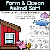 Farm and Ocean Animal Sort