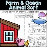 Farm and Ocean Animal Sort