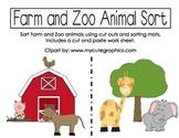 Farm and Zoo Animal Sort