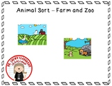 Farm and Zoo Animal Sort File Folder
