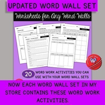 Farm and Zoo Animals Word Wall Set and Activities for Young Learners (ESL/ELA)