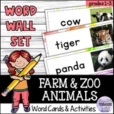 Farm and Zoo Animals Word Wall Set for Young Learners (ESL/ELA)