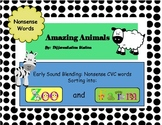 Farm and Zoo Animals: Early Sound Blending CVC Nonsense Words