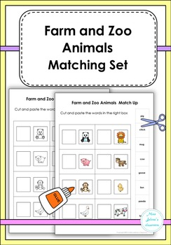 Farm and Zoo Animals Matching Set