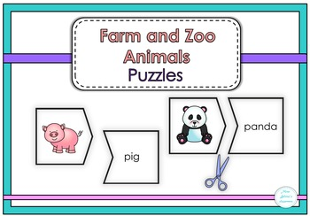Farm and Zoo Animals Puzzles