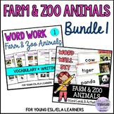 Farm and Zoo Animals Vocabulary Activities and Word Walls