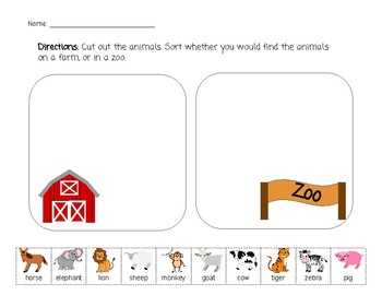 Farm and Zoo Sort