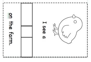Farm animal booklet