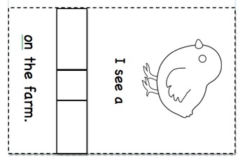 Farm animal booklet