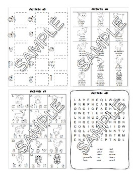 Farm animals / A la ferme FRENCH Worksheets and Games Pack