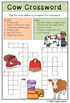 Farm animals: Cow themed english and mathematics worksheets and activities