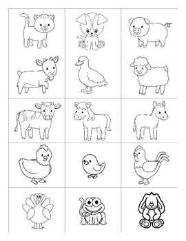 Farm animals / Los animales de la granja SPANISH Games