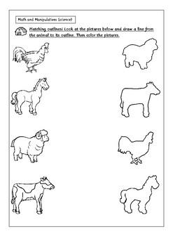 farm animals activity worksheets by digital disorder tpt. Black Bedroom Furniture Sets. Home Design Ideas
