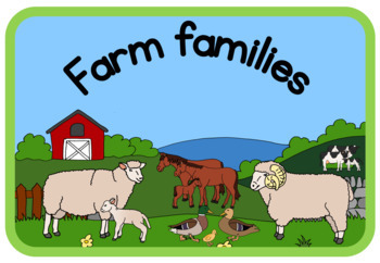 Farm animal families book (simplified version)