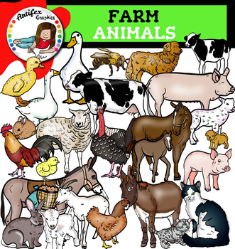 Farm animals clip art