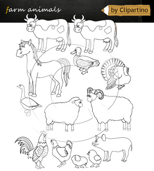 Farm animals clipart NEW