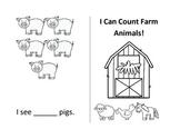 Farm animals count and read mini book