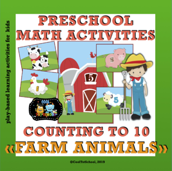 Farm animals counting activities