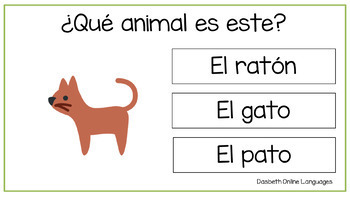 Farm animals in Spanish - Animales de la granja en español