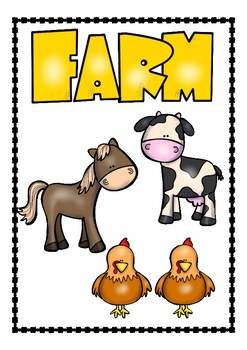 Farm animals - posters and word cards