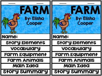 Farm by Elisha Cooper Reader's Notebook Interactive Flipbook!