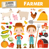 Farm clipart Farmer clipart Farm graphics Farm animals cli