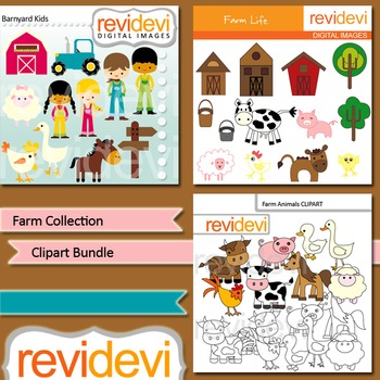 Farm collection clip art bundle (3 packs)