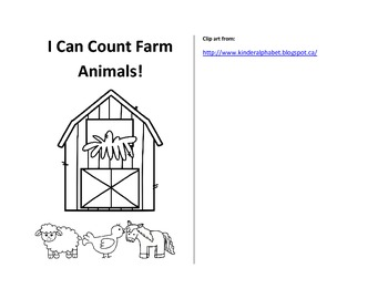 Farm count and read mini book Numbers 1-10