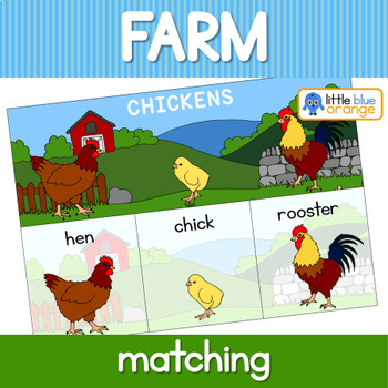 Farm animal families activity