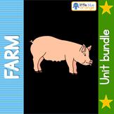 Farm animal families bundle