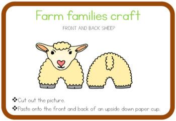 Farm animal families craft