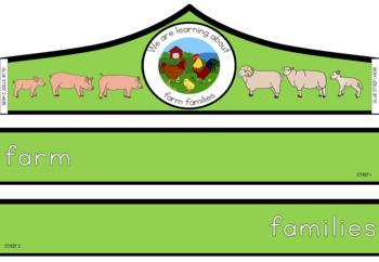 Farm animal families cycle crown