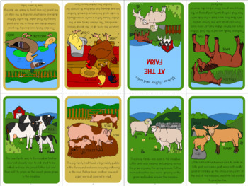 Farm animal families mini book
