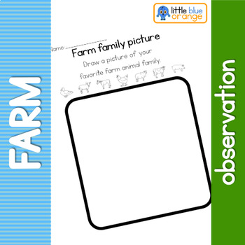 Farm animal families observation sheet