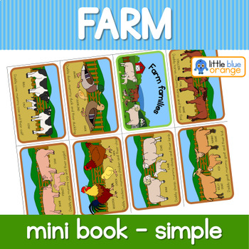 Farm animal families mini book (simplified version)